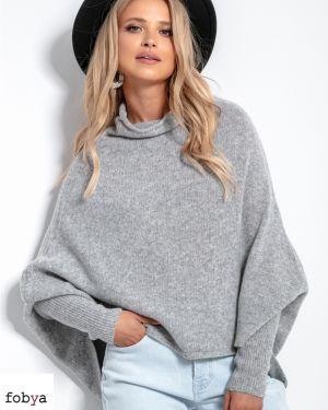 Wollen trui met vleermuismouwen