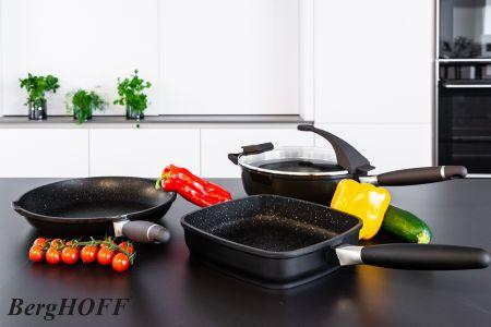 3-delige pannenset - zwart