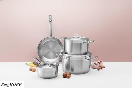 Set van 3 kookpotten met deksel + braadpan - BergHOFF