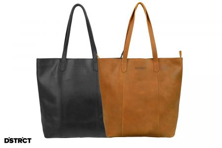 Shopper Riverside in zwart of cognac