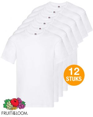 12 T-shirts Fruit of the Loom - wit