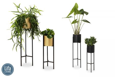 Set van 2 decoratieve plantenbakken