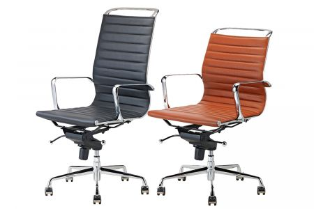 Lederen bureaustoelen