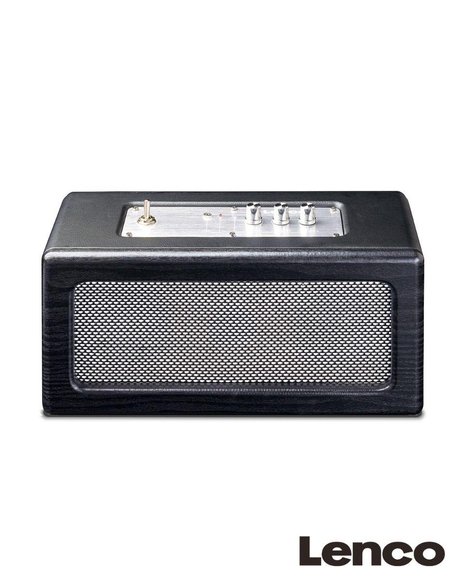 Draadloze houten bluetooth speaker met 2 ingebouwde luidsprekers