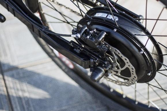 Achterwielmotor van een elektrische fiets